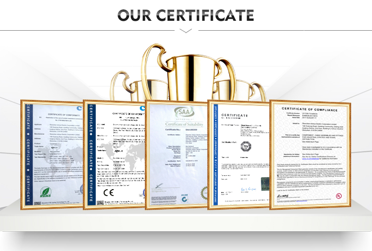 waterproof connector cert. UL/TUV/SAA/CE/ROHS/IP