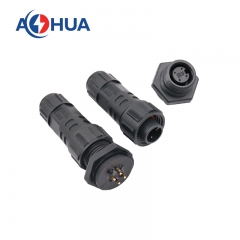 m16 4pin female plastic panel connector