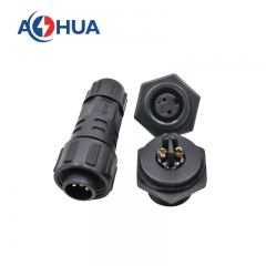 m16 2pin female plastic panel connector