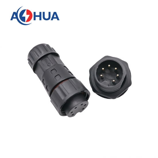 led 6pin panel waterproof connector