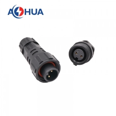 m16 2pin rear female plastic panel connector